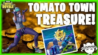 Follow the Treasure Map found in Tomato Town - SOLVED (Guide) | Fortnite Battle Royale
