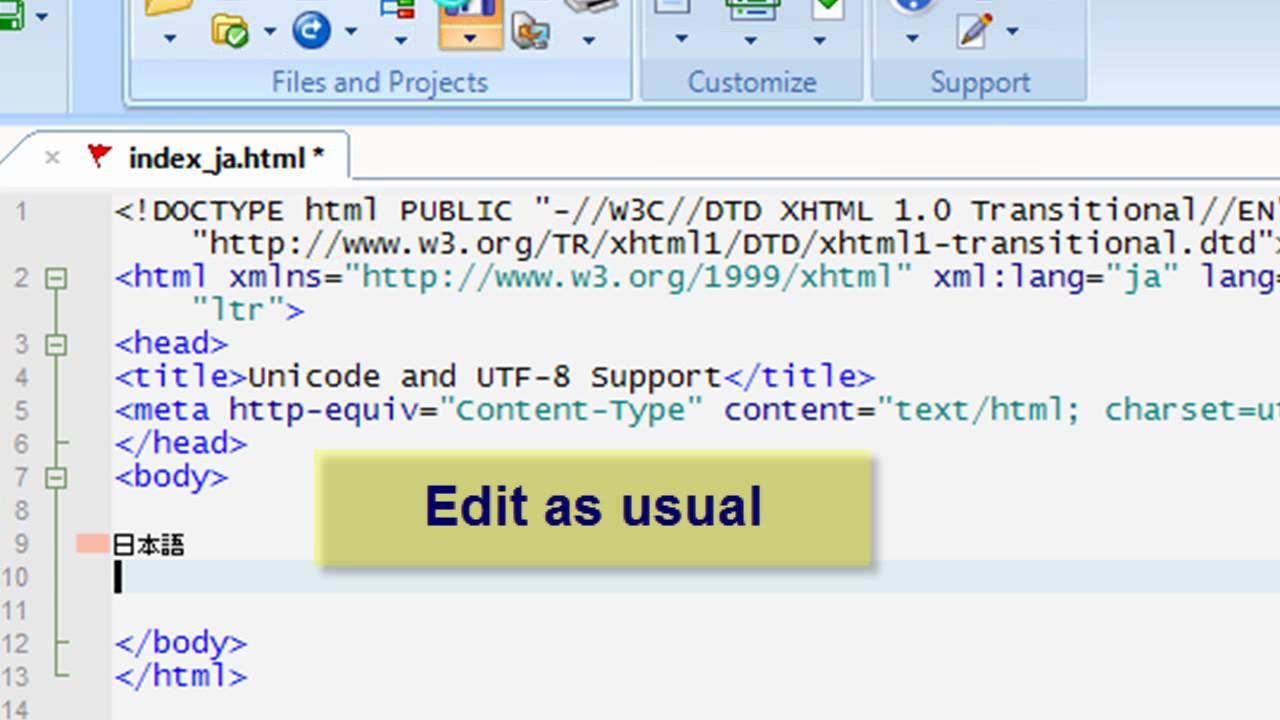 Unicode and UTF-8 support