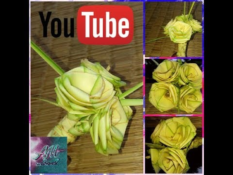 How To Make Palm Rose Coconut Tree Leaves Youtube