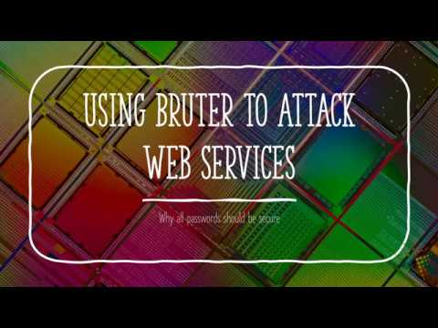 Using Bruter to Attack Web Services