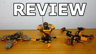 Lego Ninjago Spinjitzu Cole Review Set #70662