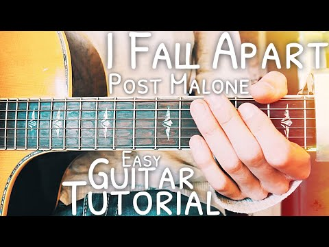 I Fall Apart Post Malone Guitar Lesson for Beginners // I Fall Apart Guitar // Lesson #465