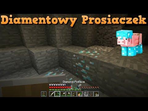 Diamentowy Prosiaczek [MINECRAFT PL #176]: Multum Diamentów... I Creeper W Tle!