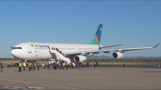 air Namibia flight Frankfurt Windhoek in Business Class