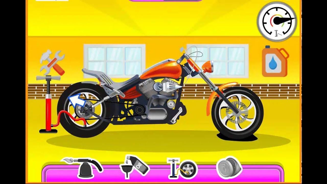 Мультик про мотоцикл - развивающий мультфильм для детей СУПЕР АВТОСЕРВИС - мойка и ремонт МОТОЦИКЛА