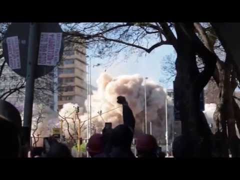 HG de Witt building implosion / demolition. Bosman street. Pretoria.