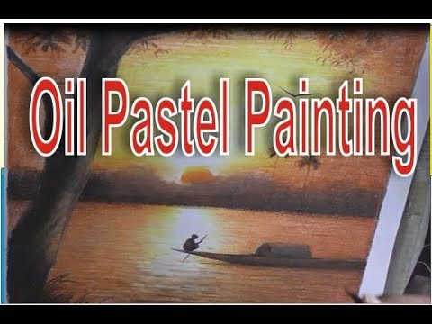 how to paint scenery of sunset  | oil pastels | oil pastel painting | online classes 2