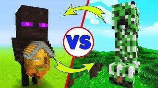 CREEPER EV VS ENDERMAN EV - Minecraft