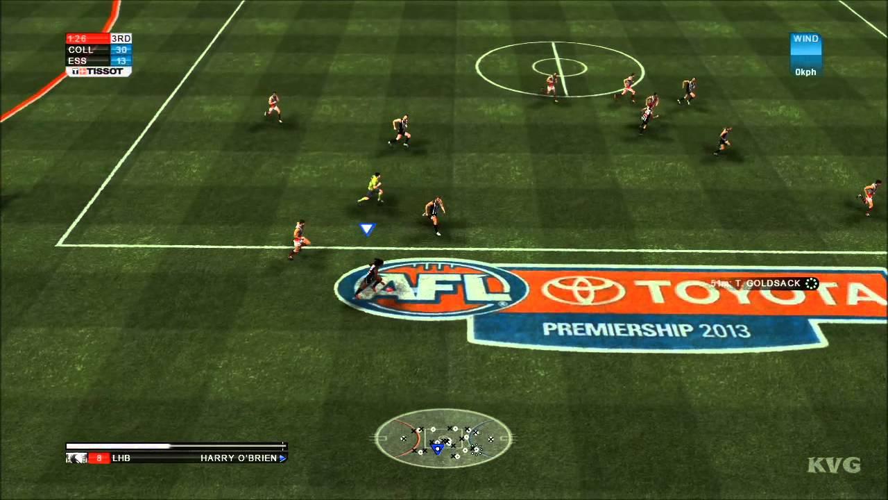 AFL Live 2 - Essendon vs. Collingwood Gameplay [HD] - YouTube