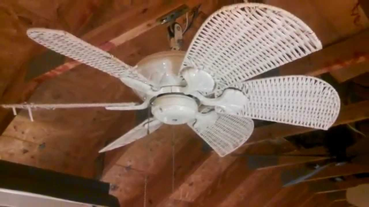 Casablanca Wailea Ceiling Fan With Wicker Blades Youtube