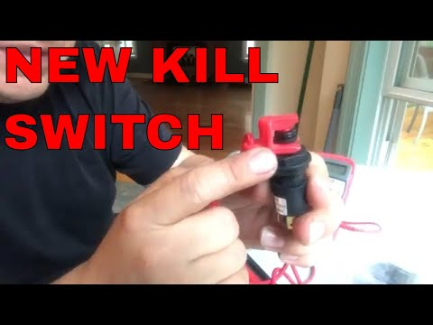 Replacing boat  kill/safety switch