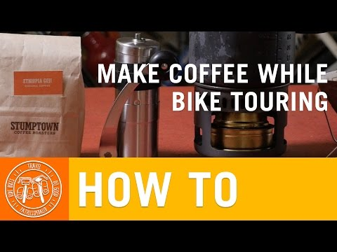 How to Make Coffee While Bike Touring - PathLessPedaled.com