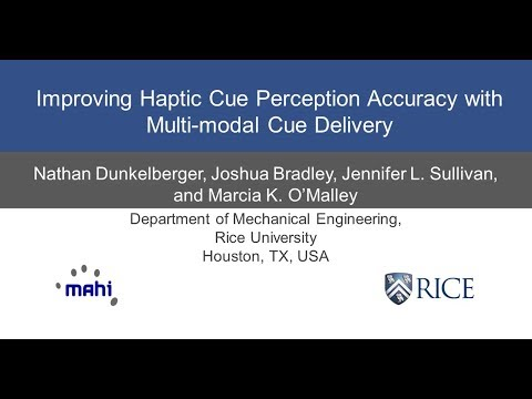 Improving Haptic Cue Perception Accuracy with Multi-modal Cue Delivery