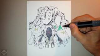 Legendary Titans Pokemon - Speed Drawing | Labyrinth Draw