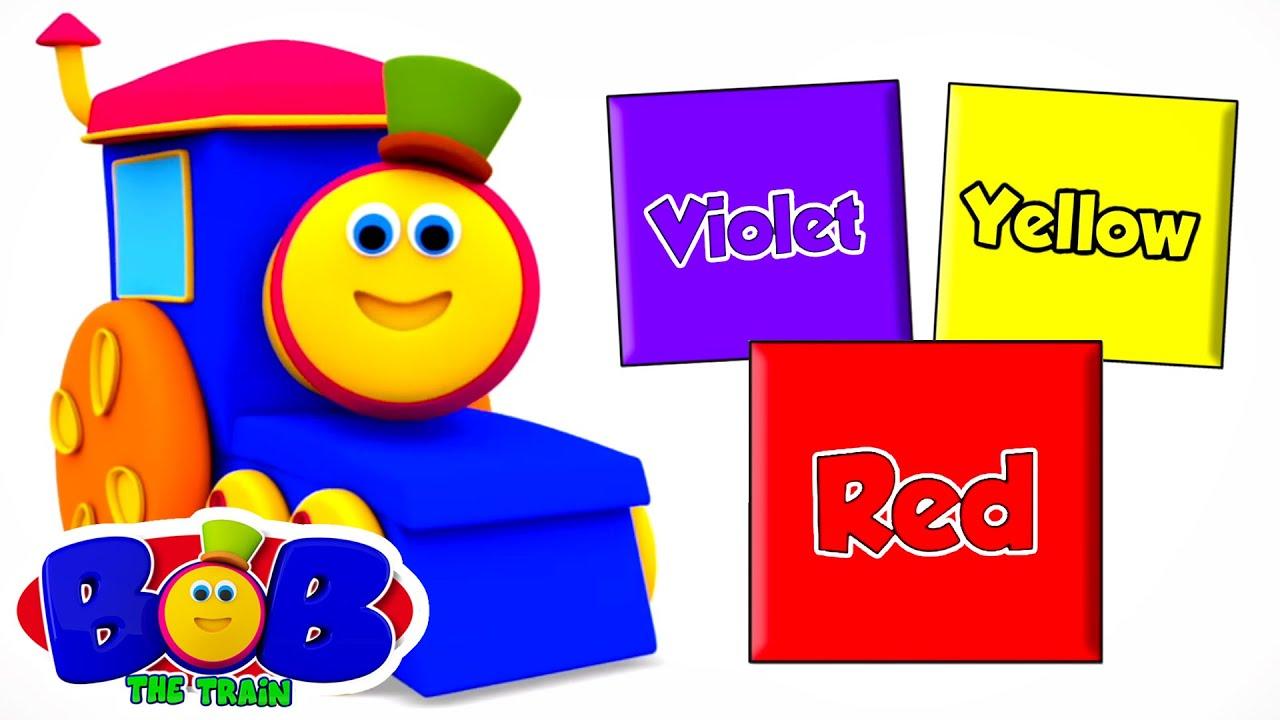 Learn Colors with Bob The Train | Preschool Nursery Rhymes & Kids Music | Baby Songs | Children