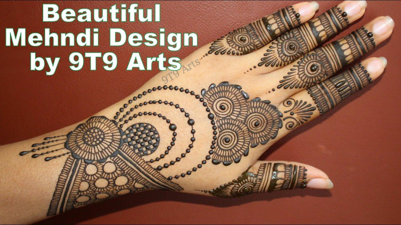 RAKHI Mehndi Design for Beginners  Easy Jewellery Mehndi  Simple Chain Style Mehndi for Karva Chauth