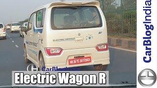 Maruti Wagon R Electric Car EV Spy Video- Testing In India