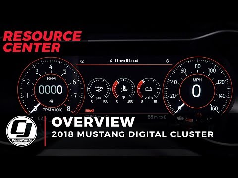 2018 Mustang LCD Digital Cluster Overview