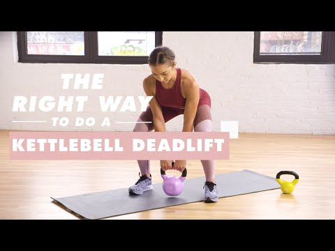 How To Do a Kettlebell Deadlift | The Right Way | Well+Good