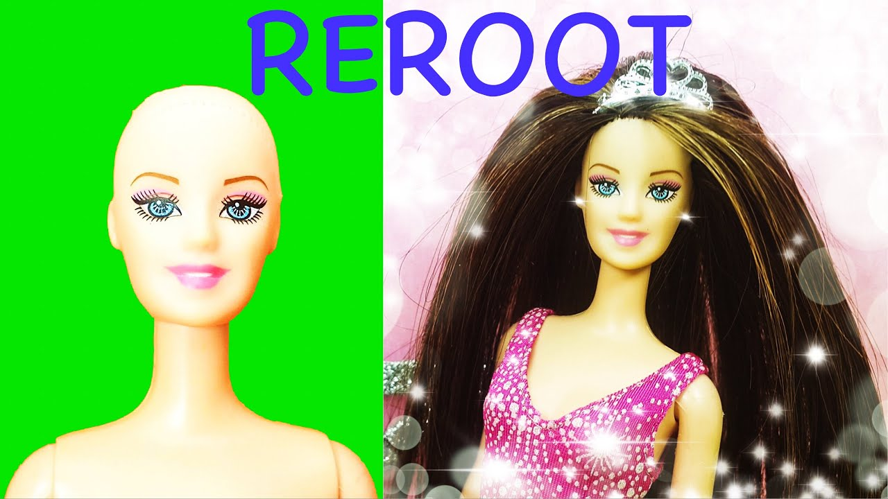 ???? Barbie Hair Cut and Reroot ✂️ Hair Transformation Tutorial ????Diy Doll Hairstyles Before and A