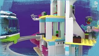 лего Подружки 41347 - Курорт Хартлейк-Сити  Распаковка и Скоростная Сборка  Lego Friends