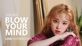 (G)I-DLE (여자)아이들 - BLOW YOUR MIND | Line Distribution