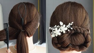 Flower Braid Hairstyle Step By Step Easy Updo Hairstyles For Medium Hair Tutorial