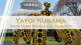 New York : Yayoi Kusama's works light up the New York Botanical Garden - LUXE.TV