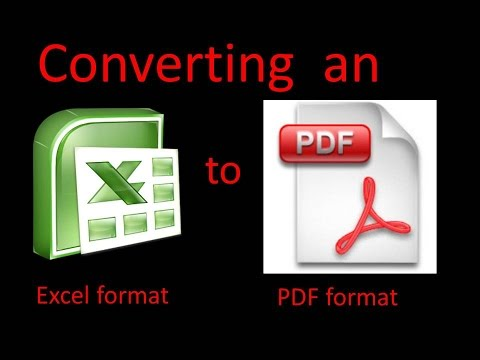 How To Convert An Excel File To PDF File