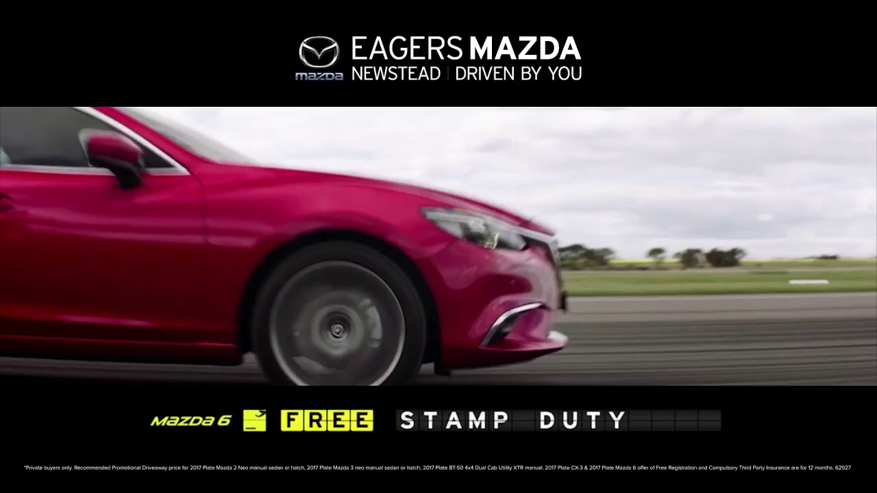 Eagers Mazda 2017 Plate Departure - YouTube