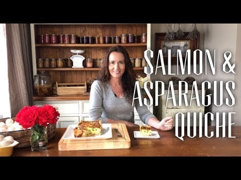 Salmon & Asparagus Quiche Recipe