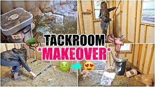 MY NEW TACK ROOM! |  Satisfying *TRANSFORMATION*  + Tour!