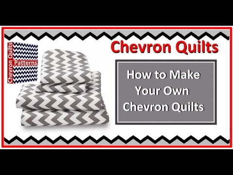 How to Make a Zig Zag Chevron Quilt Pattern with or without ... : how to make a chevron quilt - Adamdwight.com