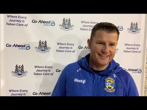 Castleknock manager Eoin Dennehy speaks to DubsTV after Go Ahead Championship playoff win