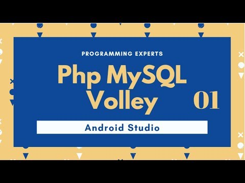 Android Php MySql using Wamp server Volley Android Studio PART 1