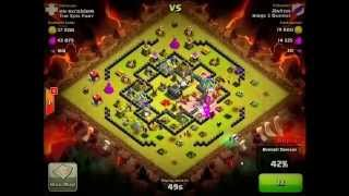 Clash of Clans TH10 vs TH9 Golem, Wizard & Witch (GoWiWi) Clan War 3 Star Attack