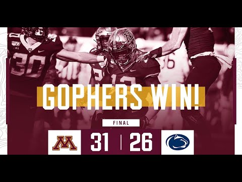 Gopher - HIGHLIGHTS: Minnesota upsets Penn State 31-26 to Win Victory Bell