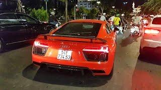 Bắt gặp Audi R8 V10 Plus của Phan Thành dạo phố đêm | XSX