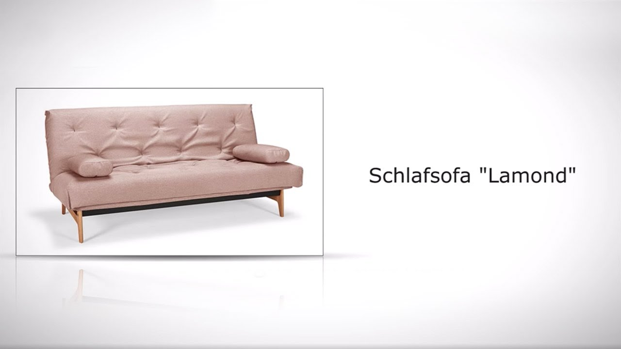 schlafsofa mit eichenf en modernem stoffbezug lamond. Black Bedroom Furniture Sets. Home Design Ideas