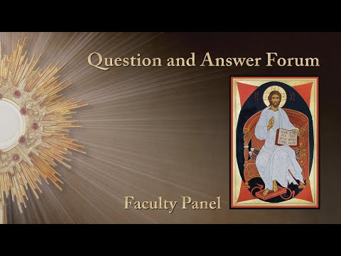 Question and Answer Forum with Faculty Panel