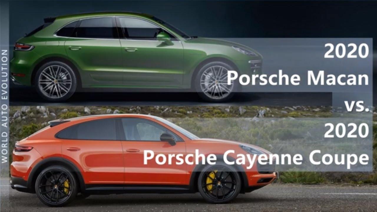 2020 Porsche Macan Vs 2020 Porsche Cayenne Coupe Technical Comparison Youtube