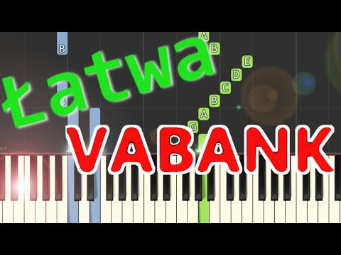 🎹 Vabank (motyw główny, H. Kuźniak) - Piano Tutorial (łatwa wersja) 🎹
