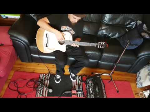 Boss RC1 looper Mic + Guitar Same Time Hack
