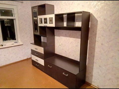 Сборка стенки Белла центральная  секция. BTS мебель
