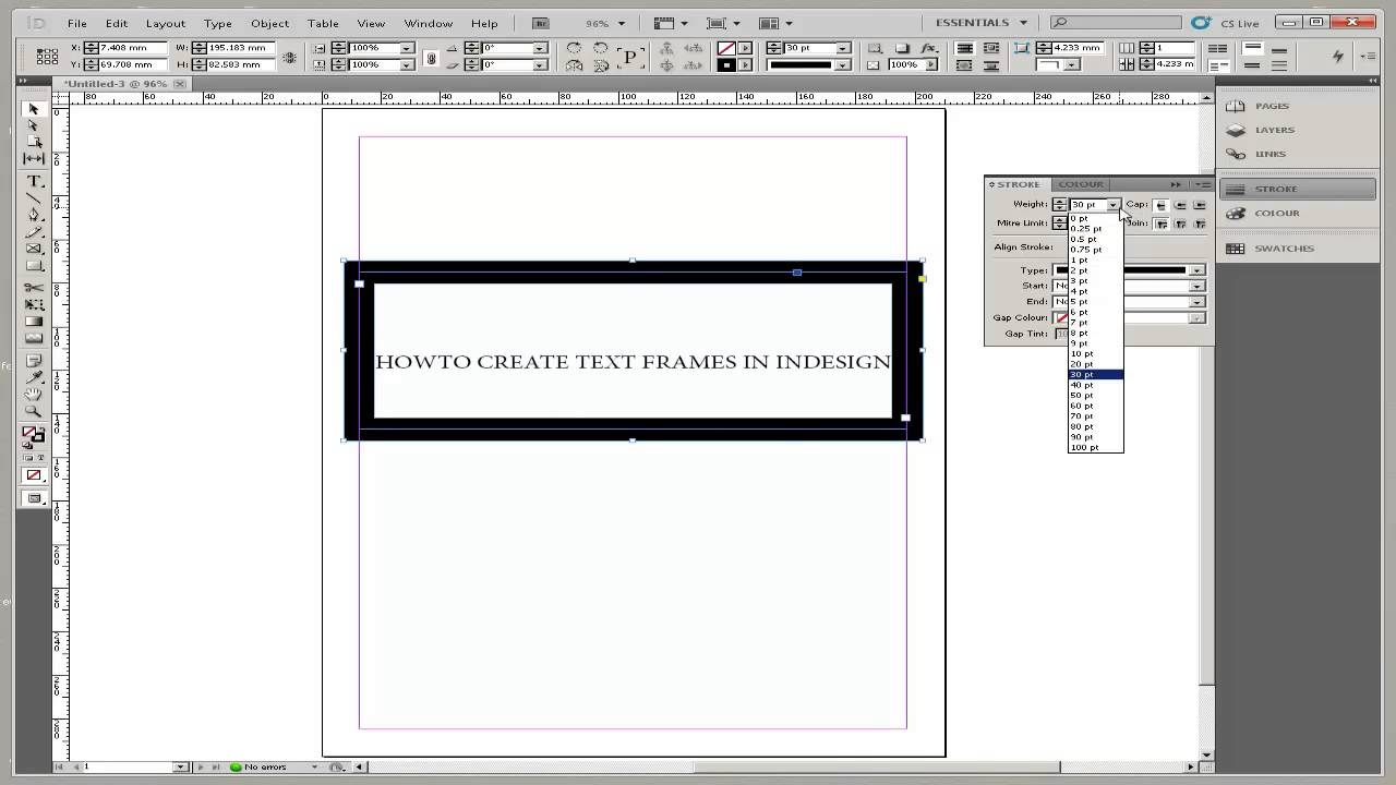 How to Create Text Frames in InDesign - YouTube