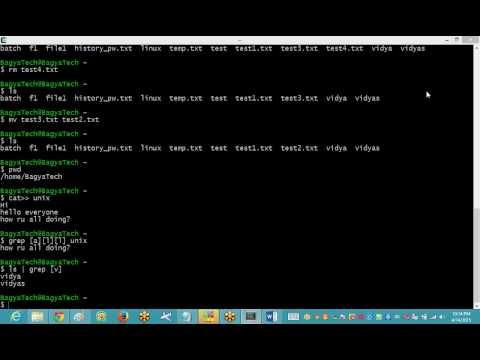 Unix Tutorial for Beginners Part 2