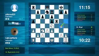 Chess Game Analysis: LipLipHura - pitonul23 : 1-0 (By ChessFriends.com)