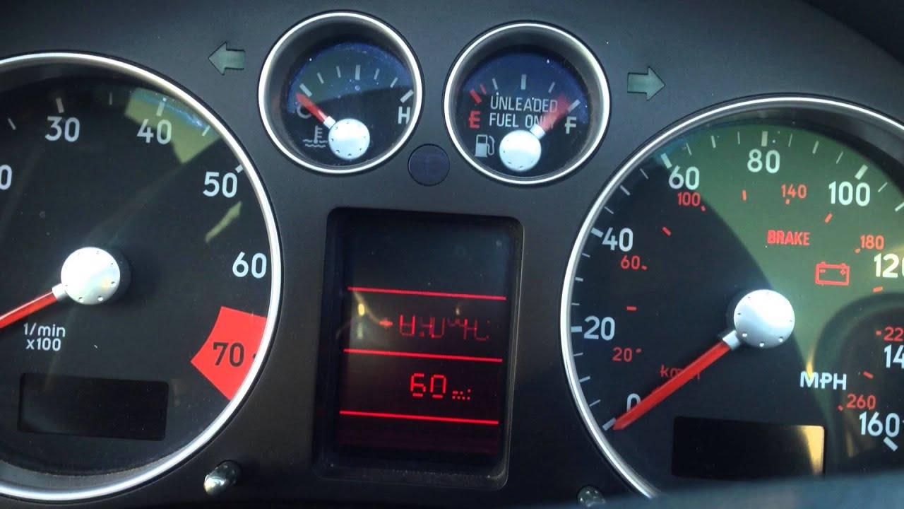 2001 audi tt quattro tdi roadster instrument cluster problems