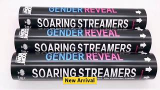 Boomwow Gender Reveal Soaring Streamers Blue