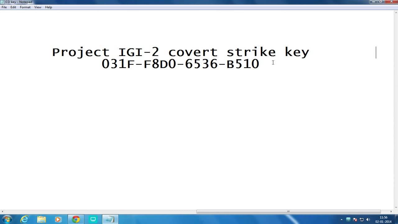 Igi 2 covert strike serial